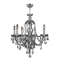"""Worldwide Lighting W8310126 Provence 7 Light 26"""" Wide Crystal Chandelier with Cr"""