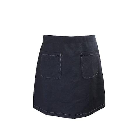 Studio M Indigo Pocket Denim Ponte Skirt L