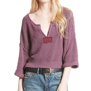 Free People NEW Purple Women's Size Large L Daybreak Pullover Sweater
