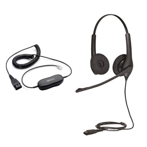 Refurbished Jabra BIZ 1500 QD Duo Stereo Corded Headset w/ GN1200 QD connection Cord