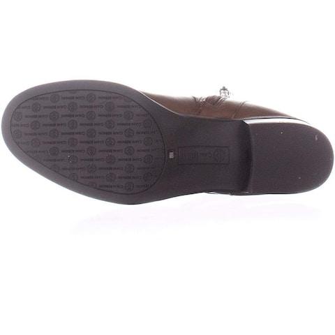 Giani Bernini Womens Revaa Leather Almond Toe Riding Boots