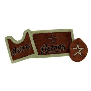 Houston Astros Retro Logo Plush 3 Piece Bath Set - Red