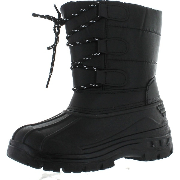 Snow Tec Kids Blizz4 Winter Waterproof Kids Snow Boots - Black