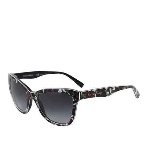 Dolce & Gabbana Kids Cat eye Red Rose Flower Print Sunglasses DG 4237 3019/8G - 47mm