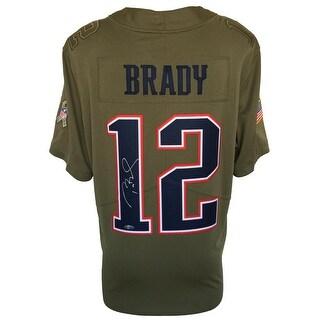 Tom Brady Signed NE Patriots Nike Limited Salute To Service Jersey Tristar