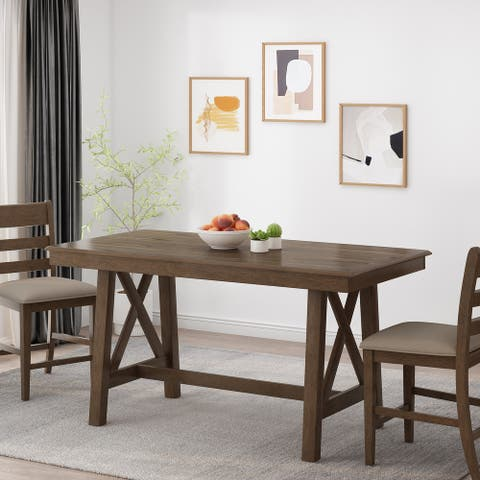 Emory Farmhouse Counter Height Wood Dining Table by Christopher Knight Home