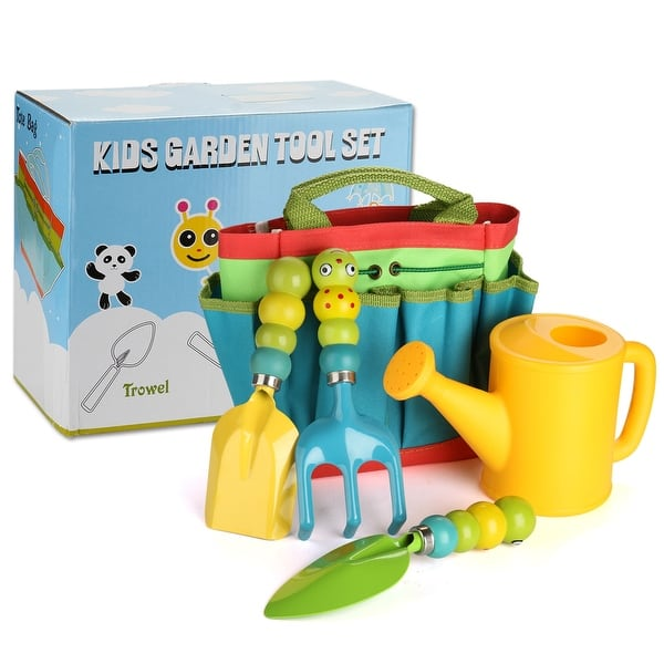 Plastic Watering Can Set Include Elephant Watering Can 3Pcs Colorful Kids Garden Tools Colwelt Kids Gardening Tool Set 5PCS