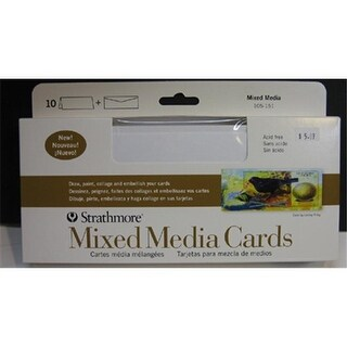 Strathmore 105-151 Slim Mixed Media Cards 10 Pack