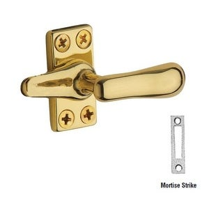 Baldwin 493 Solid Brass Heavy Duty Casement Fastener with Mortise Strike