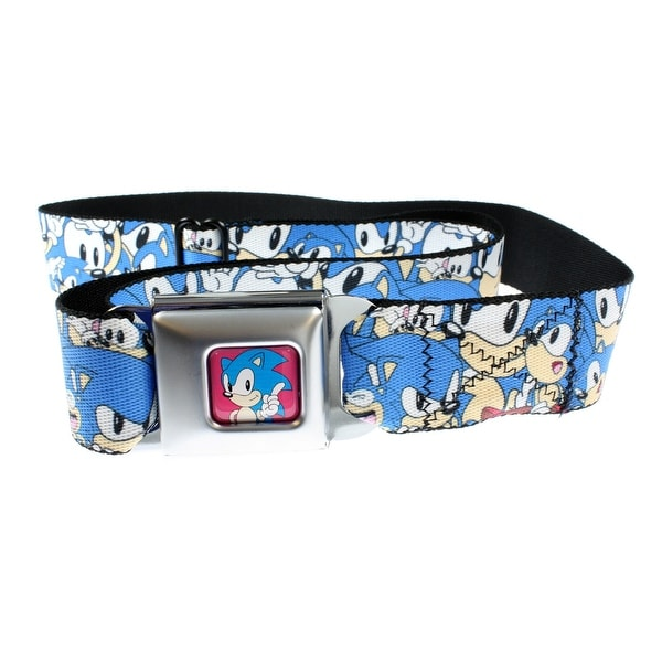 Sonic The Hedgehog Sonic Poses Stacked Seatbelt