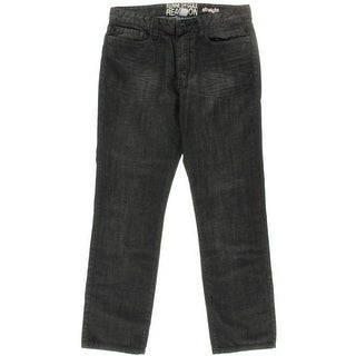 Kenneth Cole Reaction Mens Low Rise Straight Fit Straight Leg Jeans