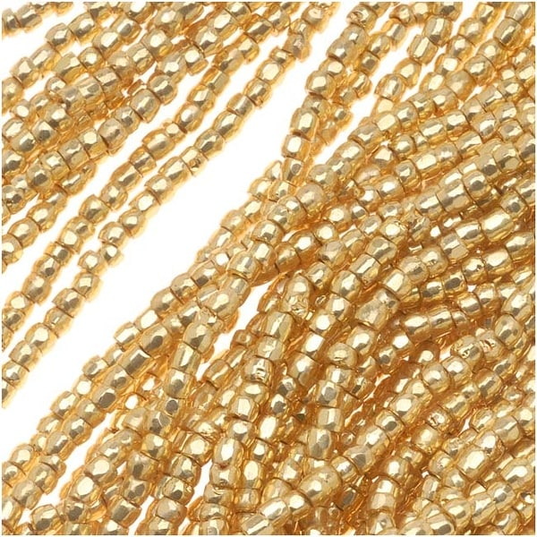 Czech Tri-Cut Seed Beads 10/0 'Gold Premium' (1 Strand/360 Beads)