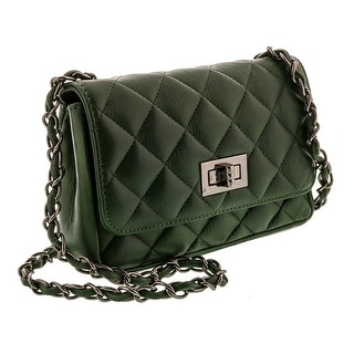 HS 1073 VR GIADA Made in Italy Forest Green Shoulder Bag