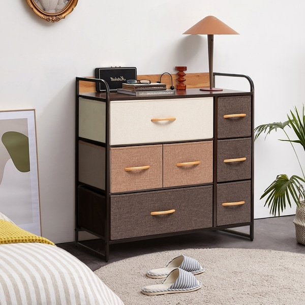 Crestlive Products 7 Drawers Wide Dresser Storage Tower Organizer Unit. Opens flyout.