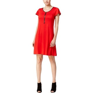 Kensie Womens Casual Dress Knit Contrast Trim (More options available)