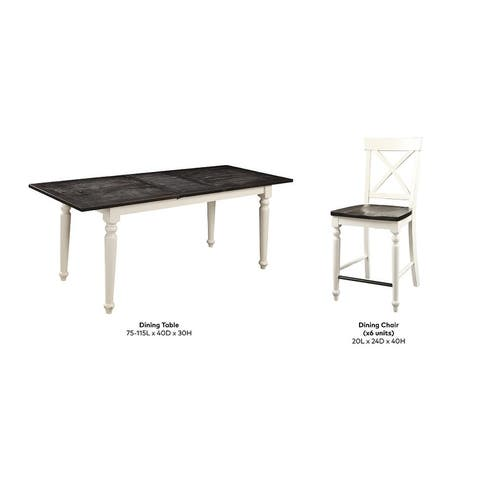 The Gray Barn Crooked Cottage 5-piece Country Gathering Height Dining Room Set