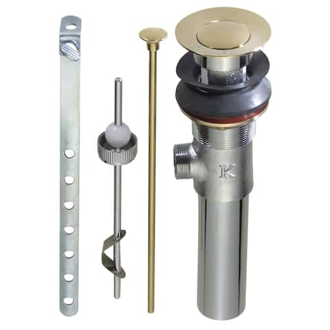 Keeney K820-77PB Mechanical Sink Pop-Up Assembly, Polished Brass