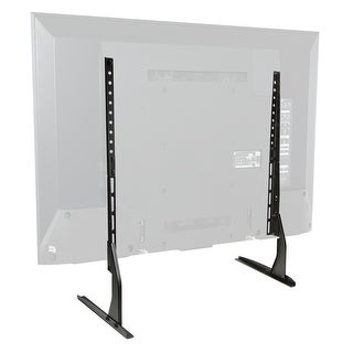 Modern Tabletop TV Stand - Universal Base Replacement - 24-65 Screens - black