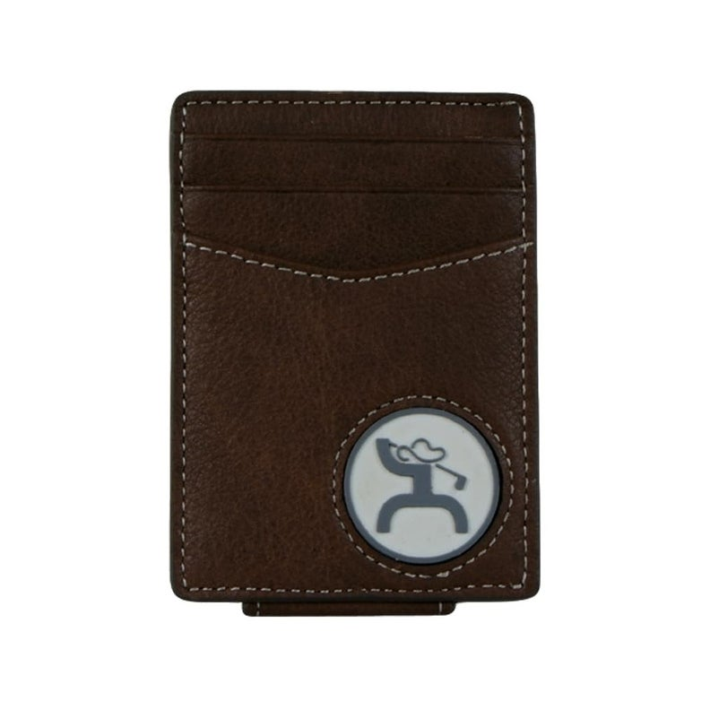 Black Leather Wallet with Silver Plated Stag Emblem
