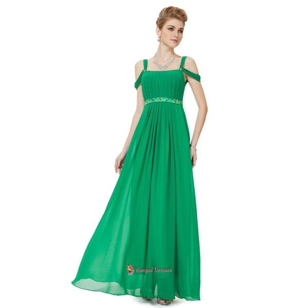 46d33c40dc88d Shop Green Prom Dresses With Straps,Green Off Shoulder Straps ...