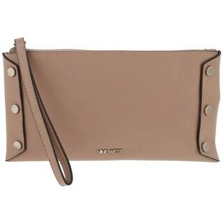 Nine West Womens Sheer Genius Wristlet Handbag Faux Leather Studded - small