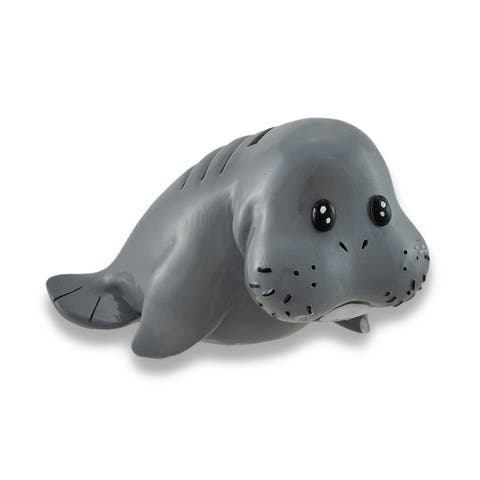 Whimsical Baby Manatee Coin Bank 6.5 In. - 3.5 X 6.5 X 4 inches
