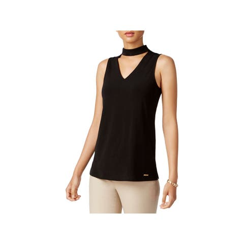 Nine West Womens Mont Saint-Michel Choker Top Sleeveless Formal