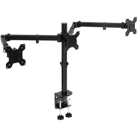 Mount-It! Triple Monitor Mount Fits 24-32 Inch Displays