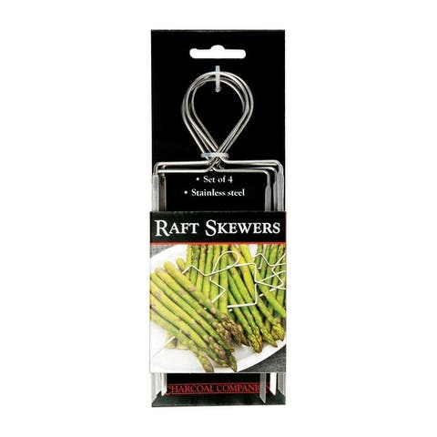 Charcoal Companion CC5135 Veggie Raft Skewers, Stainless Steel, Silver