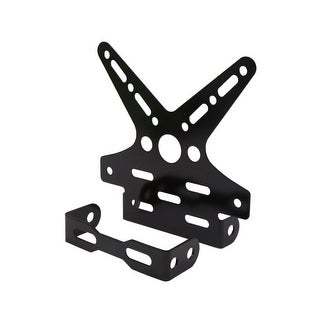 Universal Black Swallow Tail Style License Plate Bracket Frame For Motorcycle