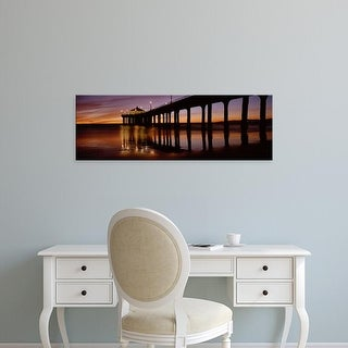 Easy Art Prints Panoramic Images's 'Manhattan Beach Pier, Manhattan Beach, Los Angeles, California' Canvas Art