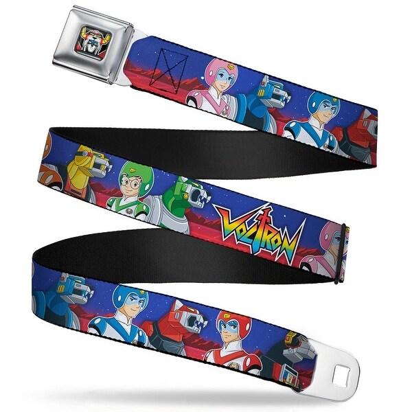 Voltron Head Full Color Black Voltron Super Force Pilots Lions Blues Red Seatbelt Belt