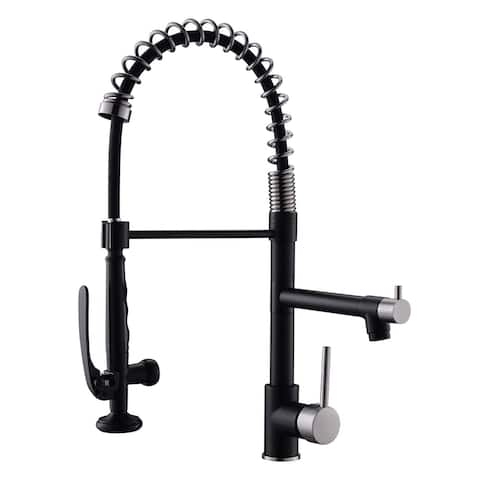 Single Handle Pull Down Sprayer Kitchen Sink Faucet