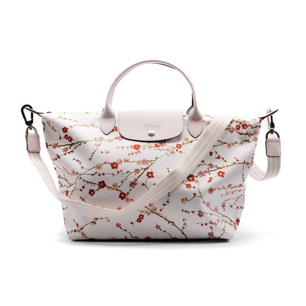 41bb1e5584 Shop Longchamp Le Pliage Néo Fantaisie Sakura Medium Tote Bag - Free ...