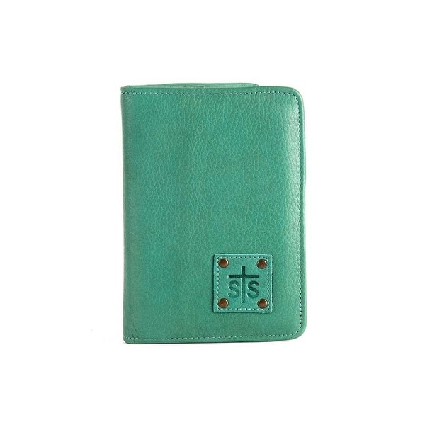"StS Ranchwear Western Wallet Womens Magnetic Zip Leather Jade - 5.5""w x 7.5""t"