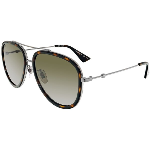 259933dee98 Shop Gucci Anti-reflective GG0062S-002-57 Silver Aviator Sunglasses - Free  Shipping Today - Overstock - 18900958