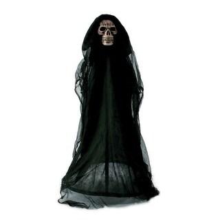Fun World 91288T Halloween Lawn Walker Black Reaper with Light Up Eyes, 3'