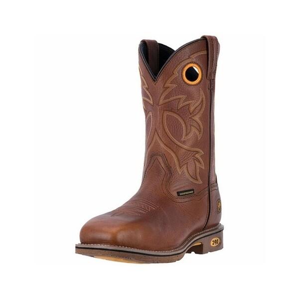 Dan Post Work Boots Mens Bismark Waterproof ST Orthotic Brown
