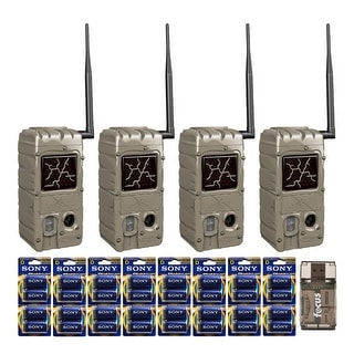 Cuddeback G Series 20MP Dual Flash Trail Camera 4 Pack And Bundle