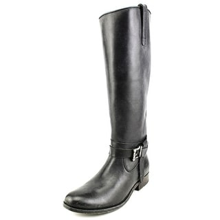 Frye Melissa Knotted Women Leather Black Motorcycle Boot
