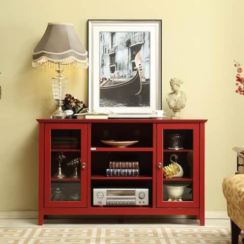 "Rustic Farmhouse Wood Buffet Storage Cabinet Living Room - 32.1""x51.8""x15.6"""