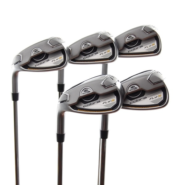 New Cobra Fly-Z Irons 6-PW LEFT HANDED w/ R-Flex True Temper Steel Shafts