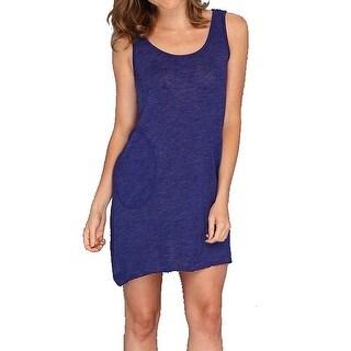 Allen Allen NEW Blue Women's Size Medium M Pocketed Tank Dress