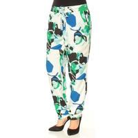 CALVIN KLEIN Womens Blue Printed Straight leg Pants  Size: XL