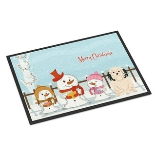 Carolines Treasures BB2350MAT Merry Christmas Carolers Lowchen Indoor or Outdoor Mat 18 x 0.25 x 27 in.