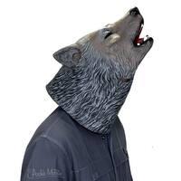 Howling Wolf Latex Costume Mask - Multi