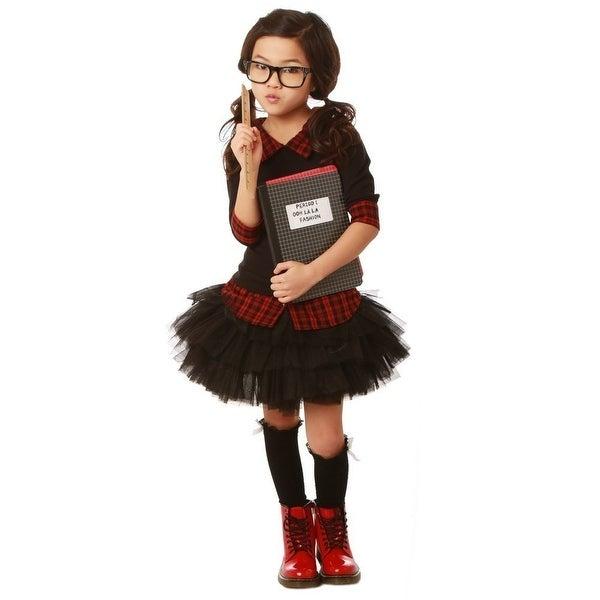 Shop Ooh La La Couture Girls Black Red Plaid Funky