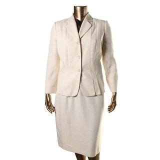 Suit Studio Womens Plus La Femme Notch Collar 2PC Skirt Suit - 16W
