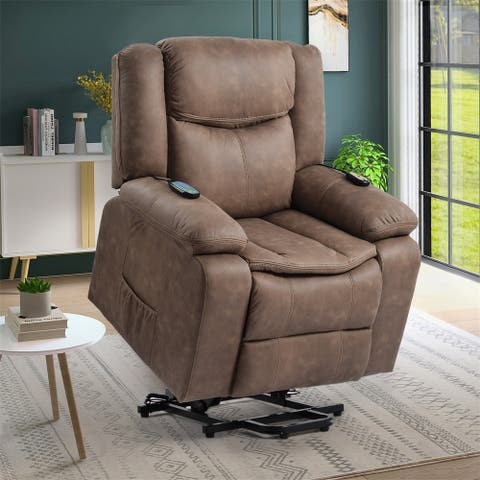 Merax Power Lift Recliner Chair for Elderly with Adjustable Massage Function