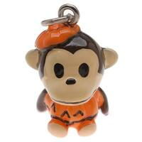 Hand Painted 3D Resin Charm Cute Monkey In Pumpkin Costume Lightweight 23mm (1)